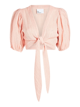 Cropped pink blouse