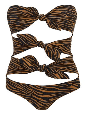 Lisa Marie Fernandez - Brown Zebra Print One-piece - Women