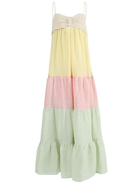 MULTICOLORED ST TROPEZ DRESS