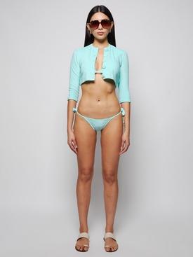 PAMELA TERRY CLOTH STRING BIKINI SEAFOAM GREEN
