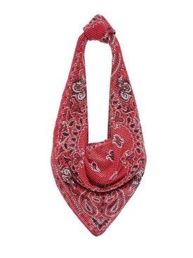 SCARF SHOULDER BAG, BRIGHT RED