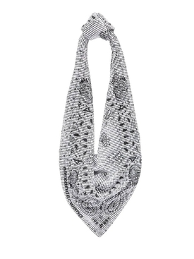 SCARF SHOULDER BAG, WHITE