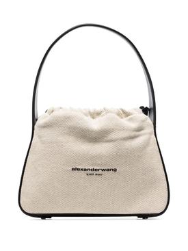 Ryan Canvas Satchel Bag, Natural