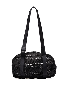 WANG SPORT MINI DUFFLE MESH BAG, BLACK
