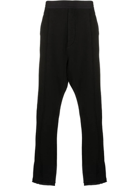 Black tailored joggers