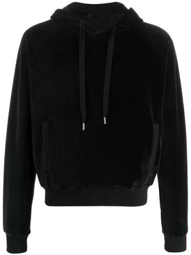 Haider Ackermann - Black Velour Hoodie - Men