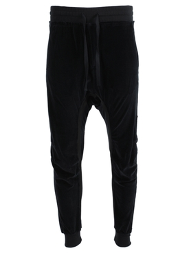 Moon-shape jogger pants black