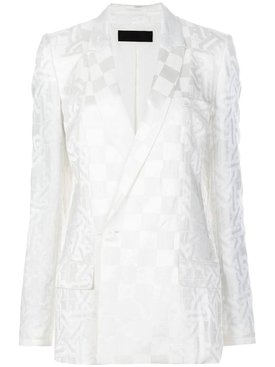 Haider Ackermann - White Single-breasted Jacquard Blazer - Women