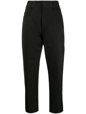 Black two tone pants