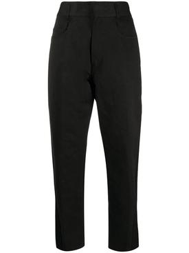 Black two tone pants