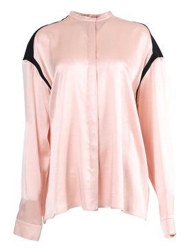 Silk contrasting panel blouse