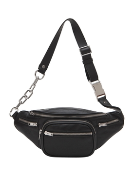 BLACK LEATHER ATTICA SOFT FANNY PACK
