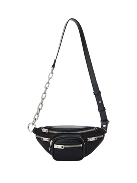 MINI BLACK LEATHER ATTICA SOFT FANNY PACK