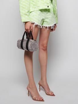 Embellished Mini Cruiser Duffle Bag SILVER