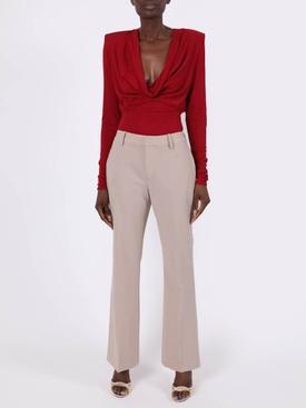 Red Draped bodysuit