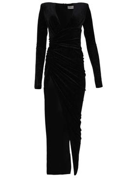 Black High slit long dress
