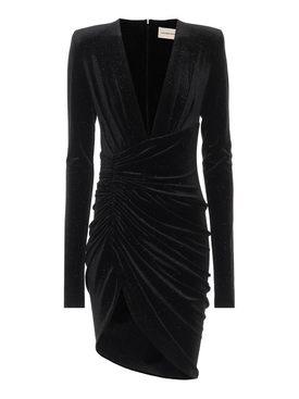 Black Long Sleeve Velvet Dress