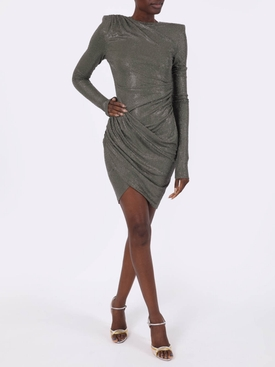 Olive gathered mini dress