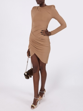 Beige asymmetric dress