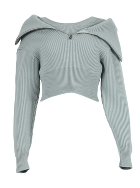 Light green wool La Maille Risoul sweater