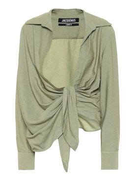LIGHT GREEN LA CHEMISE BAHIA BLOUSE