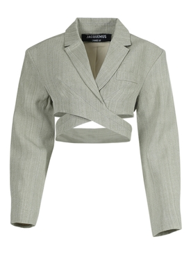 LIGHT GREEN LE HAUT AZUR CROPPED BLAZER