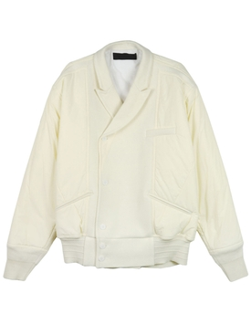 MIXED BOMBER JACKET, IVORY