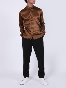 Dali camel classic silk shirt
