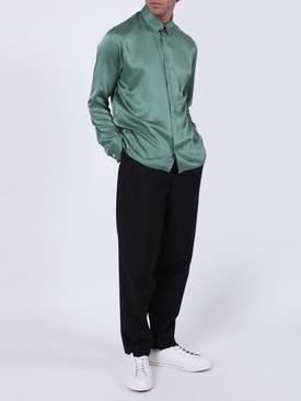Dali neptune green classic silk shirt