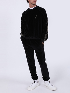 Black cotton-blend sweater