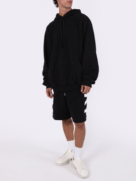 Black embroidered hoodie jumper