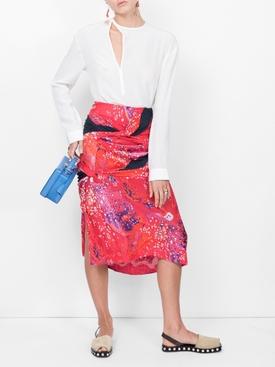 jacquard redon skirt RED