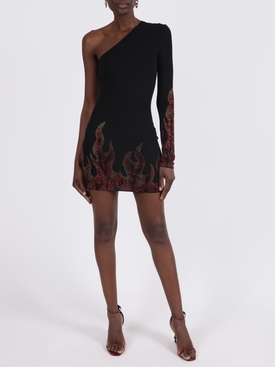 Asymmetric flame dress