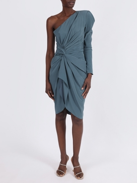 Venice Ruched one-shoulder dress