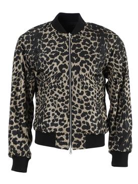 Volker Leopard Print Bomber Jacket