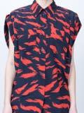 Givenchy - Silk Tiger Print Shirt Red - Women