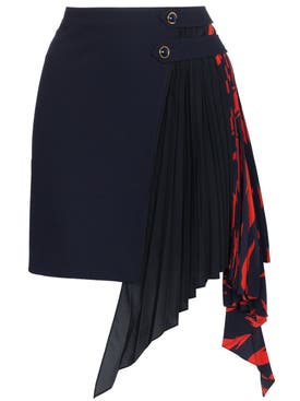 Givenchy - Pleated Godet Mini Skirt - Women