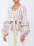 Rosie Assoulin - Puff Sleeve Wrap Blouse Multicolor - Women