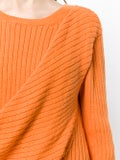 Sies Marjan - Draped Rib Knit Sweater Pumpkin - Women