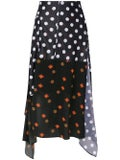 J.w. Anderson - Polka Dot And Floral Print Skirt - Women
