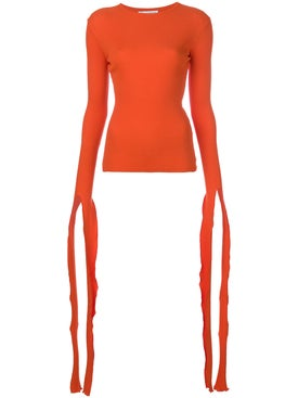 J.w. Anderson - Tie Cuff Rib T-shirt - Long Sleeved