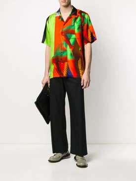 Multicolored Legs Bowling Shirt