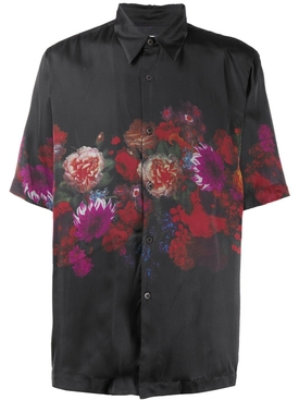 Dries Van Noten - Black Floral Button-down Bowling Shirt - Men