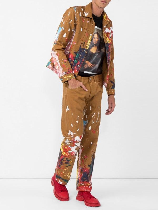 82cfc247fe8dc2 Junya Watanabe Comme Des Garcons Man - Junya Watanabe X Levi's Paint  Splatter Jacket - Men