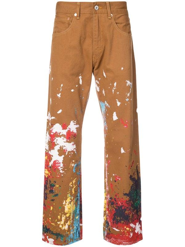 21bdb125b4c8ea Junya Watanabe Comme Des Garcons Man - Junya Watanabe Man X Carhartt Paint  Splatter Trousers -