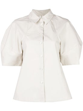 Co - Bubble Sleeve Button Down Shirt - Women
