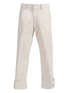 White Petricks Cuffed Pants