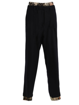 Navy Double-Waisted Plenty Pants