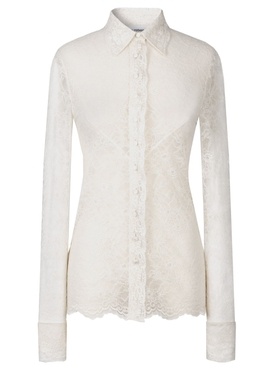 Ivory lace shirt blouse