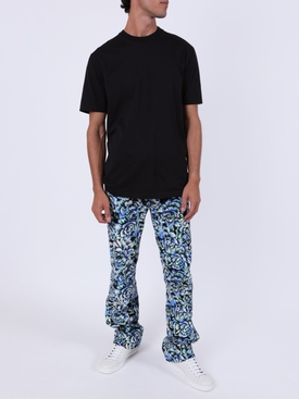 Blue Hortensia Acid Flow Corduroy Pants